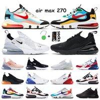 air max 270 scarpe da ginnastica da uomo scarpe reattive Triple White Black Washed Coral Midnight Turquoise BAUHAUS Sneakers sportive da donna di Pasqua multicolore 36-45