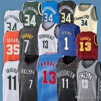 7 Kevin 11 Kyrie 34 Giannis Irving AntetokounMPO Durant 13 Härten NCAA Männer Basketball-Trikots Z18