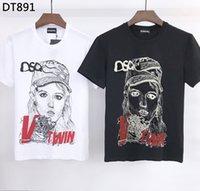 DSQ PHANTOM TURTLE 2021SS New Mens Designer T shirt Italian fashion Tshirts Summer DSQ Pattern T-shirt Male High Quality 100% Cotton Tops 60928