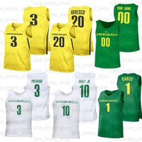 Basketbol Özel Oregon Ördekler Formalar 3 Payton Pritchard 5 Chris Duarte 32 Anthony Mathis