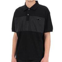 2021 럭셔리 자수 폴로저 T 셔츠 패션 맞춤형 남성 디자이너 Tshirts 고품질 흑백 100 % 코튼 망 의류 크기 M-XXL