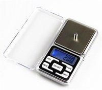 Balances numériques Digitals Boîte à bijoux Gold Silver Coin grain gram gramme Taille de poche Herb Mini rétroéclairage électronique 100g 2005g 500g Expédition rapide