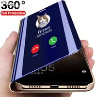 Smart Mirror Flip Phone Case For Samsung Galaxy S21 S10 S9 S8 S20 FE Lite Ultra Note 20 10 9 8 Plus S7 Edge F62 M62 Cover
