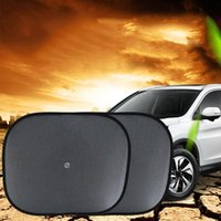 Car Sunshade 2 PCS Window Shade Anti-UV With Suction Cup Mesh Baby UV Shield Curtain For Vehicles 17.4 X 14.2 Inch