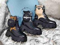 Женщины дизайнеры Rois кожаные сапоги лодыжки Мартин ботинок и нейлон военные вдохновленные боевой леди открытый ботинок обувь туши прикреплены к лодыжке с сумками 35-41 S6VK #