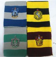 Lunga sciarpa partito figlio regalo regalo harries scolomany sciarpe banderlet magliatore con nevrici con distintivi cosplay decorazione di halloween Prop HHD9889
