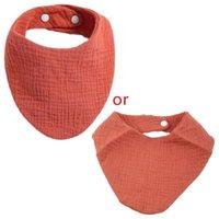 Bibs & Burp Cloths Baby Infant Cotton Bib Born Triangle Scarf Feeding Saliva Towel Shower Gifts
