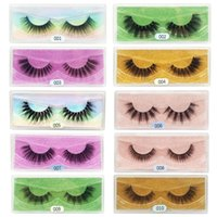 Natural 3D Faux Mink Eyelashes With Trays Reusable Fluffy Eye Lashes Soft Makeup Wispies Volume Eyelash In Bulk For Beauty
