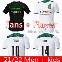 Männer Kids Kit 21 22 Mönchengladbach Fussball Trikots 2021 2022 Mönchengladbach Zakaria Kramer Ginter A.Plela Thuram VfL Borussia Football Hemden