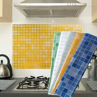 "Wallpaper Sticker Waterproof Oilproof Self-Adhesive Backsplash For Kitchen Bathroom, 27.5""x17.7"" Wall Stickers"