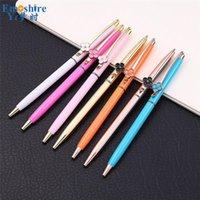 Ballpoint Pens Wholesale Fashion Pen Custom LOGO Metal For Business Gifts Brand Stationery Flower Ball P869