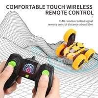 2.4G remote control wireless 4WD drive double sided stunt car cool lights children boy off road rc car toys 03