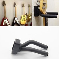 Hooks & Rails Black Guitar Hanger Hook Holder Wall Mount Stand Rack Bracket Display Strong Fixed Bass Screws Accessories