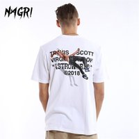 Nagri Men T-Shirt Fan Lettera Stampa Travis Scotts Astroworld Pocket Graphic Graphic Magliette Lettera Stampa Streetwear Hip Hop TEE 210329