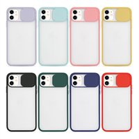 Phone Case Matte Shell Push Window Lens Anti-fall Cover For iPhone 13 12 Pro Max 11 XS XR