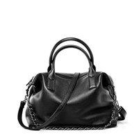 Women one shoulder shopping bag Big high-capacity High quality Genuine leather material Wholesale Fashion Bags Handbag Tote Black C167