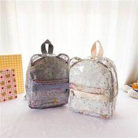 Дети рюкзаки для девочек школьные сумки блесток кошельки детские кошельки мода кожаные детские аксессуары B6012