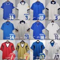 1982 1990 1996 1996 1997 1998 إيطاليا Retro Buffon Orcher Jerseys Maldini Rossi Totti Nesta Albertini Baggio R. Del Piero Torricelli 82 90 96 98 Classic Football Commet