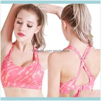 Gym Exercise Wear Athletic Outdoor Apparel & Outdoorsgym Clothing Camouflage Print Sports Bra Top Sexy Yoga Push Up Brassiere Cross Strap Ba