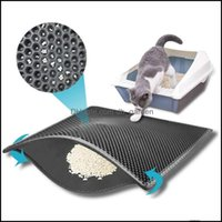 Cat Pet Supplies Home Gardencat Beds & Furniture Litter Mat Eva Double Layer Waterproof Bottom Folding Trapper Pad Nonslip Protect Floor Bre