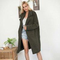 Outono e inverno casaco de pele de pele de cordeiro médio lã de cordeiro imitação solta blusão cardigan
