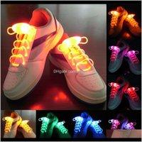 3RD Gen Fresh Flashing LED LED UP Shoeles Flash Shoeles a prueba de agua Shoestring 3 Modos Cordones de zapatos para correr Fiesta de baile Patinaje de ciclismo T9SHD