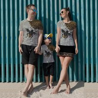 Family Matching Outfits Digital original 3D printed T-Shirts,unique fashion, beautiful, breathable and comfortable family short sleeves
