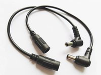 90 Grad abgewinkeltes Gleichstromkabel 5.5x2.1mm männlich an weibliche Steckerverlängerung Anschlusskabel für CCTV-Kamera DVR / freier DHL / 200pcs