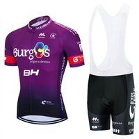 Burgos Ciclismo Jersey Jersey 20d Bike Shorts Set Ropa Ciclismo Mens MTB Verão Pro Bicycling Maillot Vestuário