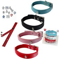 Dog Collars & Leashes Pet Cat Bling Diamond Crystal Decoration Personalized Customized Name Rhinestone Collar