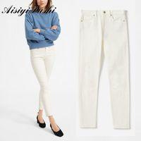 AisiiiFushi Bone Jeans Donne Vita alta Summer Skinny Vintage Plus Size Streetwear Pants Pants Boyfriend for Women's