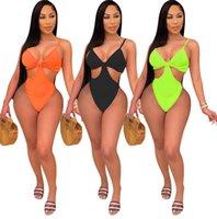 الصيف النساء لون الحلوى قطعة واحدة ملابس السباحة مثير ملابس السباحة الجوف خارج المايوه نيسيي بيكيني bodycon المايوه 1037