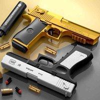 Shell lancio del deserto aquila morbido può lanciare pistola giocattolo e proiettile sotto il modello di pistola di simulazione da combattimento all'aperto del ragazzo