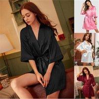 Meia manga cardigan tiras curtas saias curtas pijamas primavera casual casual roupas sleepwear mulheres sólida cor camisola moda tendência