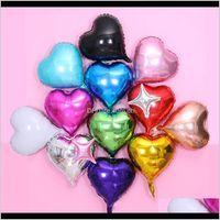 Event Festive Supplies Home & Gardenwholesale 18 Inch Love Heart Foil Balloon 50Pcs Lot Children Birthday Decoration Wedding Party Decor Bal