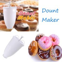 4 PCS Donut Mould Easy Fast Portable Donut Maker Manual Waffle Dispenser Doughnut Machine Waffle Plastic Lightweight Deep Fry