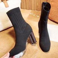 المرأة صورة ظلية الكاحل التمهيد مارتن الأحذية الشتاء تمتد النسيج bootie تحذير بوتاس عالية الكعب طباعة زهرة الكعوب السيدات عارضة الأحذية مع مربع