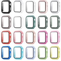 Tempered Glass Matte Watch Cover cases for Apple iwatch Series 5 4 3 2 1 Full Coverage Case 38 40 42 44mm