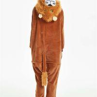 Tiereriesie für Erwachsene Kinder Anime Cosplay Lion Wolf Tiger Kostüm Jumpsuit Kinder Nachtwäsche Frauen Pyjamas