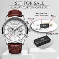 Designer Watch Marque Montres Montres de Luxury Strap en cuir Quartz Hommes Casual Date Date d'affaires Homme Homme Montre Horloge + Boîte