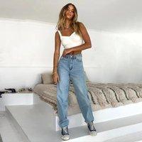 미학 나비 인쇄 헐렁한 청바지 패션 빈티지 높은 허리 데님 넓은 다리 바지 Streetwear 캐주얼 복장 2021 S-L
