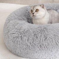القط أسرة أثاث منزلي الحصير أريكة جولة القطيفة حصيرة صغيرة متوسطة كبيرة كبيرة labradors الكلب الحيوانات الأليفة السرير dcpet قطرة