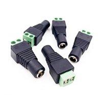 Adapter 5.5mm X 2.1mm Kobiet Męski DC Jack Złącza wtykowe do modułów LED Oświetlenie Moduły AC Power Security Securveillance Terminal