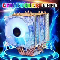 Heatpipes RGB-Kühler-Lüfter 3Pin-CPU PC-Computer Silent Kühlfächer-Kühlkörper-Kühler für Intel LGA775 / 115X 1366AMD-Kühlungen