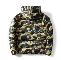 겨울 위장 망 패턴으로 재킷 코트 패턴 패션 디자이너 망 여성 Parkas Trend 편지 인쇄 Streetwear S-3XL