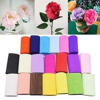 Оформление партии 250 см * 50 см Оригами Грндук Crepe Paper Craft Diy Цветы Изготовление подарочных упаковок Скрапбукинг Поставки