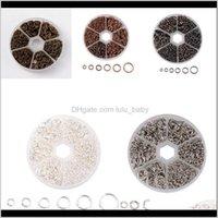 6 Tamanho Círculo de Ferro Abertura de Abertura Conexão Fit artesanal Brinco Bracelete Colar DIY Componentes Acessórios E0RSN Jump Split XXHYD