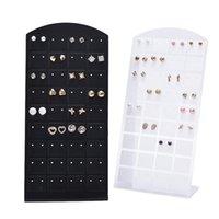Hooks & Rails 72 Holes Earrings Ear Studs Jewelry Show Plastic Display Rack Metal Stand Storage Holder