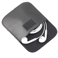 All'ingrosso New Fashion Nero Colore Cuffia Cuffia Auricolare USB Cavo in pelle Custodia per custodia per custodia Contenitore di stoccaggio DWD2924 449 S2
