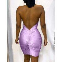 Lantejoulas planejado designer sexy halter listra padrão backless mulheres vestidos de noite casual fêmeas clothi